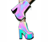 Fashion: Nightmare Reflective Platform Boots by YRU