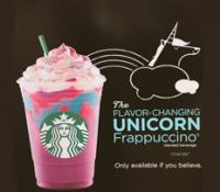 Starbucks #UnicornFrappuccino - Only Available If You Believe