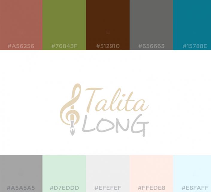 Talita Long Logo and Color Scheme